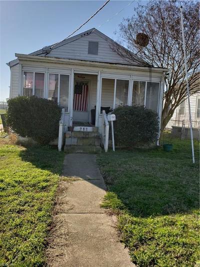 Hampton VA Residential New Listing: $60,000