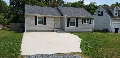 Hampton VA Residential New Listing: $85,000