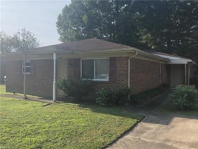 Suffolk Multi Family Home Under Contract: 4609 Hardy Dr