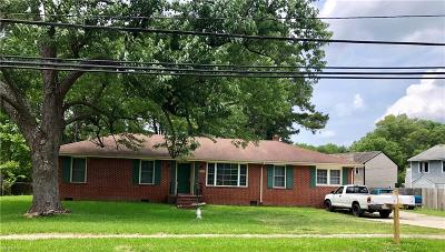 Chesapeake Multi Family Home New Listing: 4240 Taylor Rd