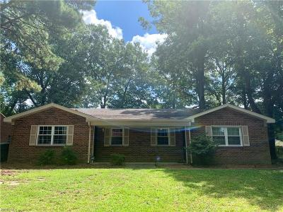 Suffolk Multi Family Home Under Contract: 6016 Camellia Dr
