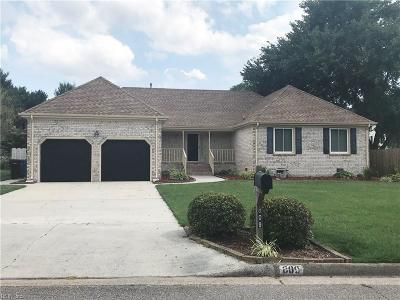 Chesapeake Residential New Listing: 809 Copper Stone Cir