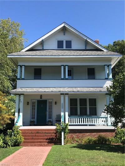 Norfolk Residential For Sale: 1220 Westmoreland Ave