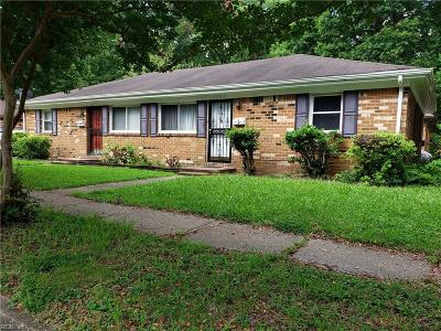Norfolk VA Multi Family Home New Listing: $160,000