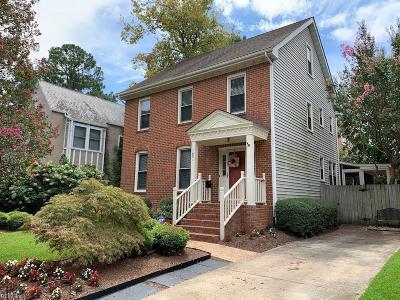 Norfolk Residential For Sale: 1031 Gates Ave