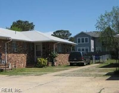 Norfolk VA Multi Family Home New Listing: $179,900