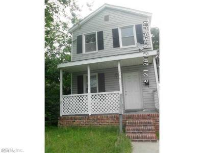 Norfolk VA Multi Family Home New Listing: $129,900