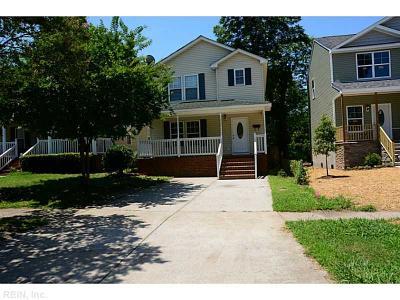 Norfolk Single Family Home For Sale: 717 Thayor St