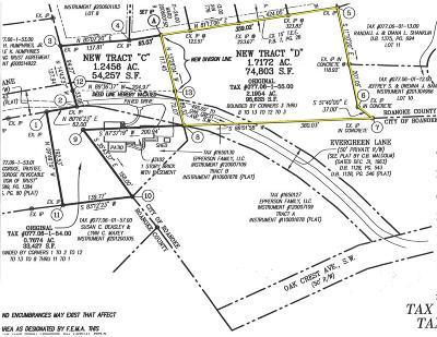 Roanoke Residential Lots & Land For Sale: Evergreen Ln SW