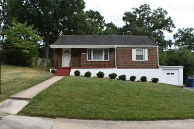 Roanoke VA Single Family Home For Sale: $135,000