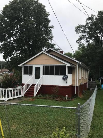 Roanoke VA Single Family Home For Sale: $80,000