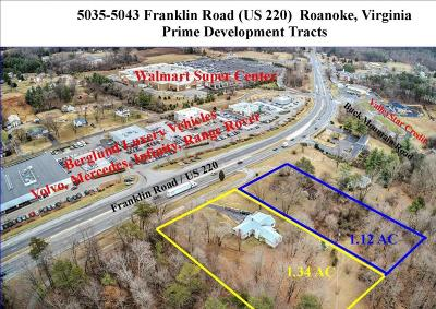 Roanoke Residential Lots & Land For Sale: 5043 Franklin Rd