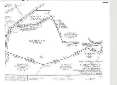Roanoke County Residential Lots & Land For Sale: Sunnycrest Rd