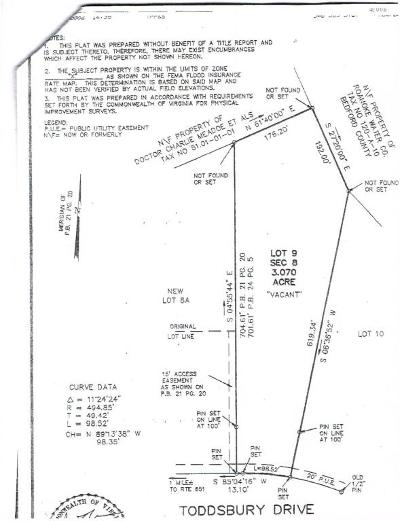Roanoke County Residential Lots & Land For Sale: 4418 Toddsbury Dr