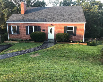 Roanoke VA Single Family Home For Sale: $179,500