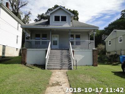 Roanoke City County Single Family Home For Sale: 1134 15th St SE
