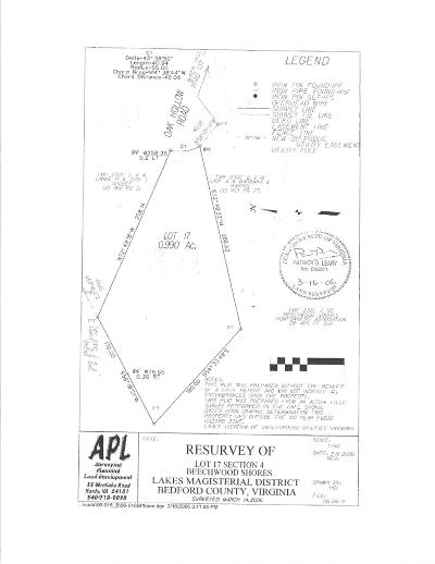 Bedford County Residential Lots & Land For Sale: Lot 17 Oak Hollow Rd