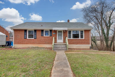 Roanoke City County Single Family Home For Sale: 5234 Florist Rd NW