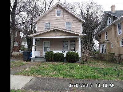 Roanoke Single Family Home For Sale: 541 McDowell Ave NW