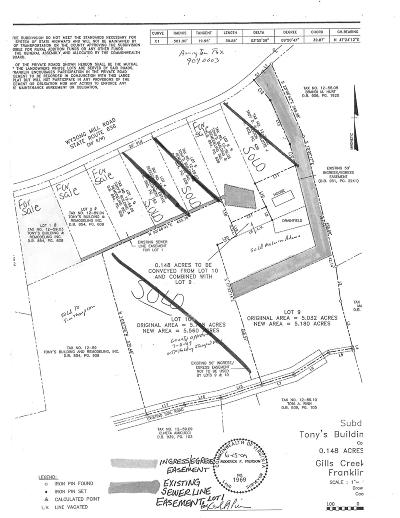 Residential Lots & Land For Sale: Lot 3 Wysong Mill Rd
