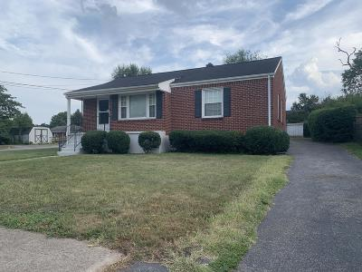 Roanoke VA Single Family Home For Sale: $129,500