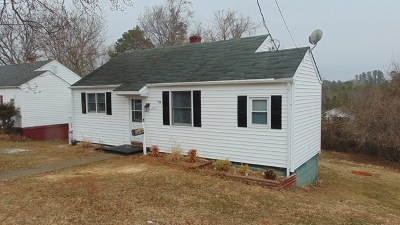 South Boston VA Single Family Home For Sale: $69,900