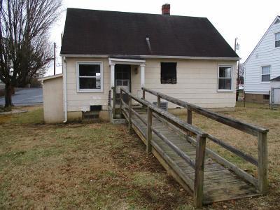 Bristol VA Single Family Home For Sale: $51,000