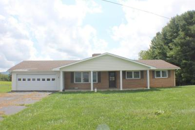 Galax Single Family Home For Sale: 318 Marthas Knob Road