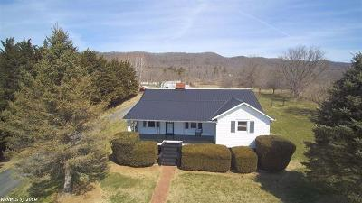 Wytheville Single Family Home For Sale: 1942 Cripple Creek Road
