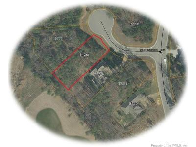 Williamsburg, Toano, Norge, Providence Forge Residential Lots & Land Sold: 11241 Brickshire Terrace