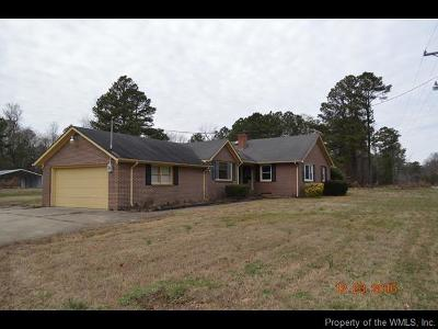 Surry Single Family Home For Sale: 1254 Burnt Mill Road