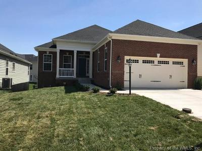 The Settlement At Powhatan Creek, Villas At Five Forks, Colonial Heritage Single Family Home For Sale: 3828 Isaac Circle