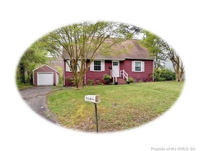 Williamsburg VA Single Family Home For Sale: $199,999