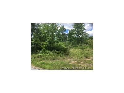 Charles City Co., Isle Of Wight County, James City Co., New Kent County, Newport News County, Suffolk County, Surry County, Williamsburg County, York County Residential Lots & Land For Sale: Lot 1 Huntington Rd Huntington Subdivision Road