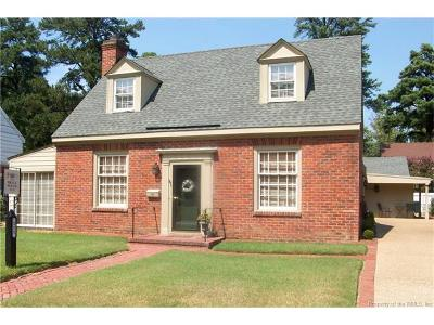 Williamsburg VA Single Family Home For Sale: $499,000