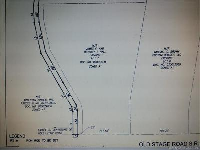 Norge, Toano, Williamsburg Residential Lots & Land For Sale: 10063 Old Stage Road
