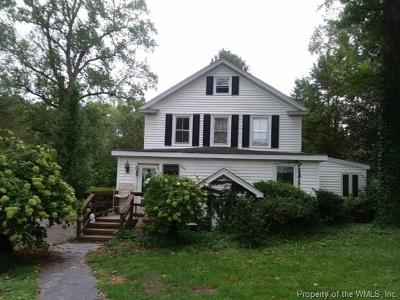 Toano Single Family Home Sold: 8841 Richmond Road