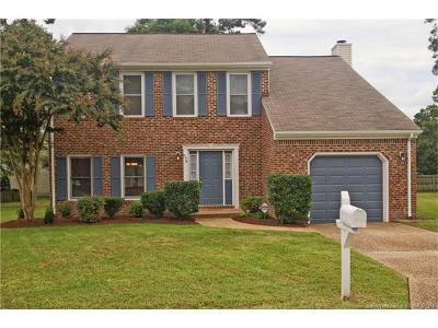 Newport News Single Family Home For Sale: 898 Gunston Court