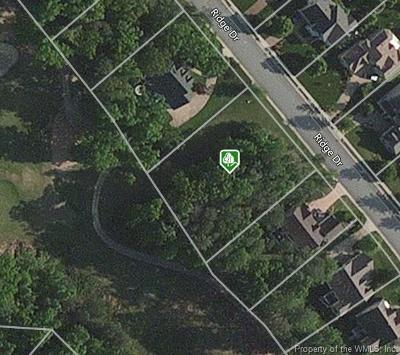 Norge, Toano, Williamsburg Residential Lots & Land For Sale: 3033 Ridge Drive