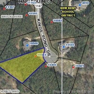 Williamsburg, Toano, Norge, Providence Forge Residential Lots & Land For Sale: 10454 Kings Pond Drive
