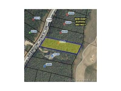 Williamsburg, Toano, Norge, Providence Forge Residential Lots & Land For Sale: 5139 Brandon Pines Drive