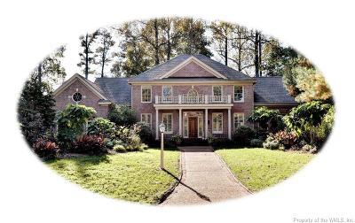 Williamsburg VA Single Family Home For Sale: $750,000