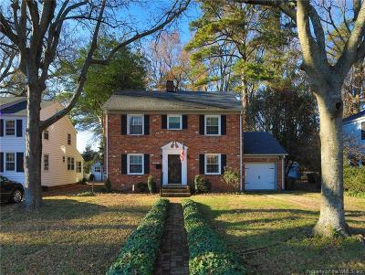Newport News Single Family Home For Sale: 3 Stratford Road