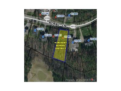 Charles City Co., Isle Of Wight County, James City Co., New Kent County, Newport News County, Suffolk County, Surry County, Williamsburg County, York County Residential Lots & Land For Sale: 11401 Royal Lane