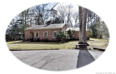 Williamsburg VA Single Family Home For Sale: $480,000