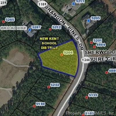 Charles City Co., Isle Of Wight County, James City Co., New Kent County, Newport News County, Suffolk County, Surry County, Williamsburg County, York County Residential Lots & Land For Sale: 5204 Brandon Pines Drive