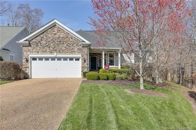 The Settlement At Powhatan Creek, Villas At Five Forks, Colonial Heritage Single Family Home For Sale: 4723 Levingston Lane