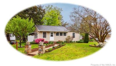 Single Family Home For Sale: 110 West Semple Road