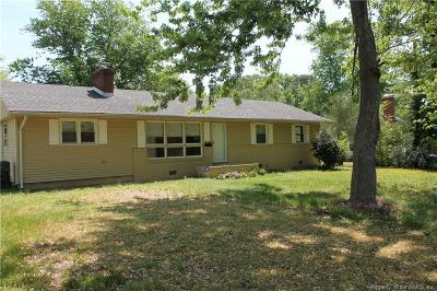 Williamsburg, Toano, Providence Forge Single Family Home For Sale: 711 Jackson Drive