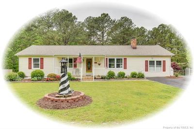 Gloucester Single Family Home For Sale: 6394 T C Walker Road